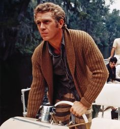 Steve McQueen. The man know how to wear a sweater.