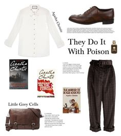 """""""Plaid For Fall: They Do It With Poison"""" by yosifova ❤ liked on Polyvore featuring Isa Arfen, Gucci, Tod's and FOSSIL"""
