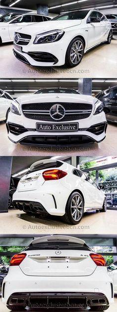 Mercedes A 45 AMG | 381 c.v | Blanco Polar | Piel Alcántara Negra| Performance | Auto Exclusive BCN | Concesionario Ocasión Mercedes-Benz AMG Barcelona | http://autoexclusivebcn.com