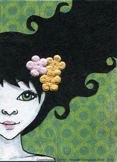 Jasmine Original ACEO by carambatack on Etsy