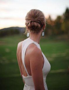 Lovely satin wedding dress