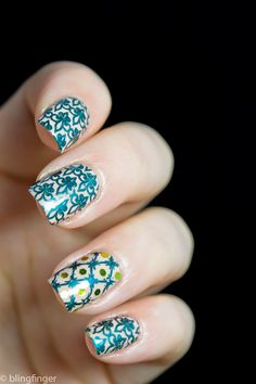 French Lily - Nail Art Stamping