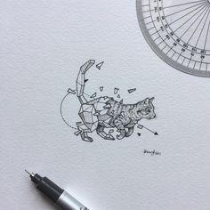 gato ideas de disenos de tatuajes de animales