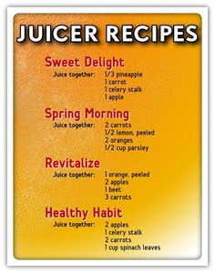 Just bought a juicer? Here are some great recipes which you can try for those…