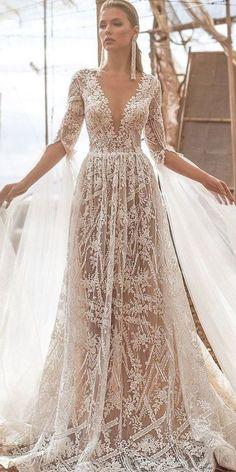 Navy Wedding Guest Dresses, Barn Wedding Dress, How To Dress For A Wedding, Western Wedding Dresses, Elegant Wedding Gowns, Backless Wedding, Dream Wedding Dresses, Bridal Dresses, Lace Wedding