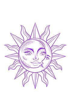 Moon Tattoo Designs, Tattoo Design Drawings, Outline Drawings, Tattoo Sketches, Art Sketches, Body Art Tattoos, Small Tattoos, Hippie Painting, Tattoo Outline