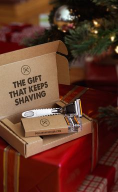 Gift amazing shaves from Dollar Shave Club. Get fantastic razors delivered every month so they can always shave with a fresh blade. Gift the Club.