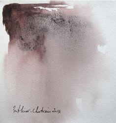 "Watercolor 19 x 19 cm from Muriel Buthier-Chartrain / 2014 "" Je te sais là """