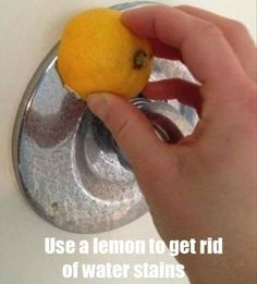 Use lemon to get rid of water stains