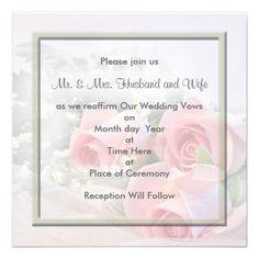 Renewing Wedding Vows Invitations