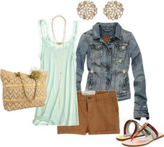 """aqua and gold"" by bradierenee on Polyvore"