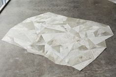"""maison21: decorative but not serious...: introducing """"shapes"""" a new collection of pieced cowhide rugs by maison21"""