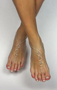 to BareSandals on Etsy: Minimalist Silver Barefoot Sandals Foot Jewelry Asymmetrical Anklet Foot Thong Barefoot Jewelry Silver Anklet Ankle Bracelet Barefoot Sandal USD) Crochet Barefoot Sandals, Beaded Sandals, Beaded Jewelry, Ankle Jewelry, Ankle Bracelets, Body Jewelry, Feet Jewelry, Silver Anklets, Silver Rings