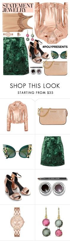 """""""#PolyPresents: Statement Jewelry"""" by euafyl ❤ liked on Polyvore featuring IRO, MICHAEL Michael Kors, Dolce&Gabbana, Sandro, Alexander Wang, Bobbi Brown Cosmetics, Cynthia Vincent, Irene Neuwirth, Ippolita and contestentry"""