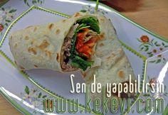 Ton Balık Salatalı Dürüm (Ev Yapımı Lavaş Ekmeği ile)