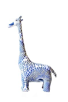 Indego Africa's take on the stuffed animal, this patterned giraffe is filled with recycled fabric and sealed with love. Used as a bookend, toy, or decorative object, this piece is sure to bring the pe