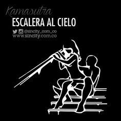 #EscaleraAlCielo Beneficios: Buen agarre y no tienen que esperar a llegar a la recámara. Ella se tiene que sentar sobre él mientras él está sentado en un escalón de la escalera. Las escaleras ofrecen buenas posibilidades para sentarse y un barandal para tener soporte extra. #KamasutraSinCity