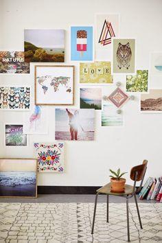 Galeria de quadros decoração parede