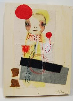 J1....Original Mixed Media Painting by ChristinaRomeo on Etsy