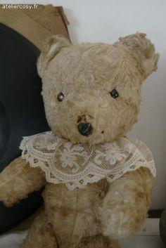 Ours ancien , jouet  Brocante de charme atelier cosy.fr