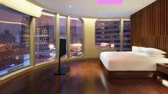 This room at Andaz Shanghai somehow looks futuristic... probably because of the windows?