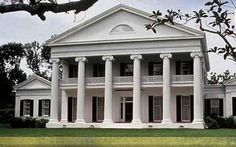 Madewood Plantation, 1846, commissioned by Thomas Pugh and designed by architect Henry Howard, on Bayou Lafourche near Napoleonville, LA
