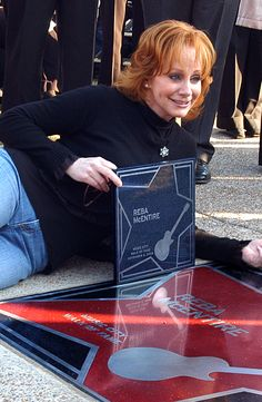 Reba McEntire was one of the first Music City Walk of Fame inductees in Nashville in November 2006