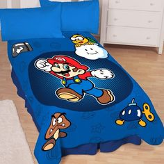 Super Mario Who's With Me Microraschel Blanket, 62-Inches by 90-Inches ** Click image for more details.