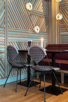 Artistic Ideas for Dining Room Walls Architecture Restaurant, Restaurant Design, Architecture Design, Luxury Restaurant, Restaurant Ideas, Cafe Interior, Interior Walls, Interior Design, Dining Room Wall Decor
