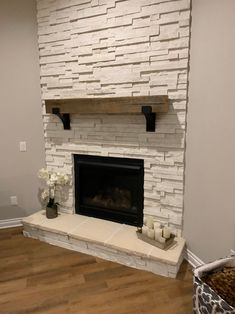In this article you will find some guidance about the fireplace mental designs. Enjoy the article and enjoy your design. House Design, House, Home, Corner Fireplace Makeover, Brick Fireplace Makeover, Farmhouse Fireplace, Farmhouse Mantel, Fireplace, Diy Fireplace