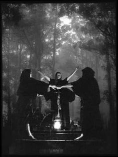 This image here shows three witches working together to worship or work magic.  Its images like this where people get the idea and concept of the Power of three.