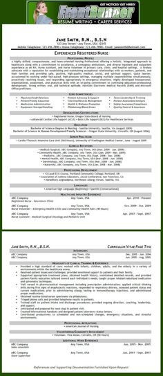 Resumé Sample (Nursing - RN)