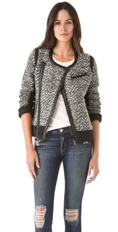 Rag & Bone Smantha Knit Biker Jacket | SHOPBOP