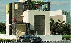Indian home design is a popular Home Design website that covers Home Design ideas, Interior Design Tips, Exterior Views, Home Improvement resources Simple House Exterior Design, Modern House Design, Style At Home, Small Modern House Plans, Design 3d, Design Ideas, Modern Contemporary Homes, Modern Homes, Kerala House Design