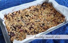 Little Bits of Lovely: Healthy eats :: muesli slice