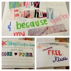 My friend's boyfriend hand-made a coupon book for her for her birthday. Sweetest. Thing. Ever!