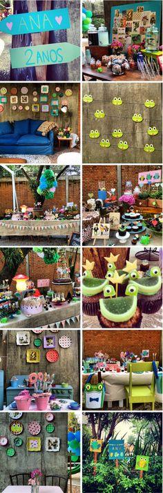 """Festa de Sapo - por Decoração do Baile """"Frog Party"""""""