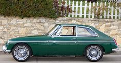 1966 MGB GT - mine was a '68, but looked just like this- British Racing Green.