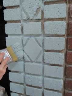 how to paint a brick fireplace! Yessss so making my dad let me do this