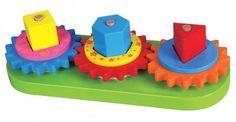 בובימה - צעצועי עץ - גלגלי שיניים מעץ - השחל וגלגל