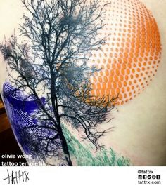 Beautiful tattoo made by Olivia Wong.
