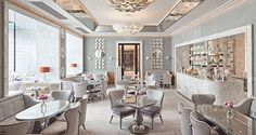 The beautiful refurbished Collins Room at The Berkely Hotel London. By Robert Angell.