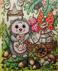Adult Coloring Pages, Coloring Books, Colouring, Markova, Fairy Houses, Color Inspiration, Enchanted, Owl, Magic