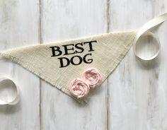 Best Dog - Wedding Dog Bandana with Flowers