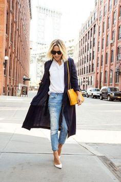 Fashion Inspiration   White Shirt & Blue Jeans