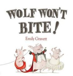 Wolf Won't Bite by Emily Gravett. Three little circus pigs capture a wolf and make him do amazing tricks without any worry that he will bite them—but will he? Great Books, New Books, Fractured Fairy Tales, Spring Books, Three Little Pigs, Mentor Texts, Bedtime Stories, Read Aloud, Story Time