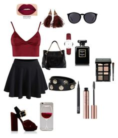 """""""Untitled #1"""" by ayahomsi ❤ liked on Polyvore featuring Lipsy, WithChic, Gucci, Prada, Burberry, Louis Vuitton, Versace, NARS Cosmetics, Yves Saint Laurent and Smashbox"""
