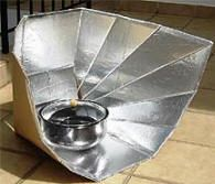 Build a solar cooker... links to lots of different solar cookers with tutorials