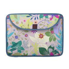 #sleeves #macbooksleeves #zazzle #elenaindolfi Floral Deco Rickshaw Flap Sleeve by elenaind