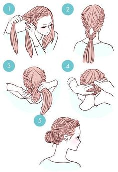 This is really an easy and cute hairstyle that I love! Follow me on my Pinterest account for more like this!!